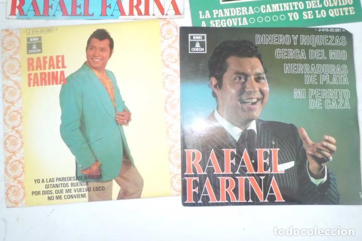 Discos de vinilo: LOTE DE DISCOS SINGLE DE RAFAEL FARINA, AÑOS 60 - Foto 2 - 194085895