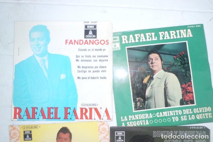 Discos de vinilo: LOTE DE DISCOS SINGLE DE RAFAEL FARINA, AÑOS 60 - Foto 3 - 194085895