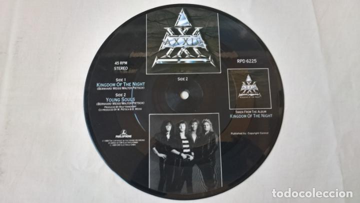 Discos de vinilo: MUSICA SINGLE: AXXIS - KINGDOM OF THE NIGHT / YOUNG SOULS. PICTURE DISC COLECCIONISTA - Foto 2 - 194091358