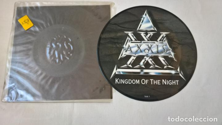 MUSICA SINGLE: AXXIS - KINGDOM OF THE NIGHT / YOUNG SOULS. PICTURE DISC COLECCIONISTA (Música - Discos - Singles Vinilo - Heavy - Metal)