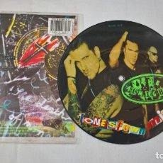 Discos de vinilo: MUSICA SINGLE: THE ALMIGTHY - JONESTOWN MIND / ADICTION-LIVE. PICTURE DISC COLECCIONISTA. Lote 194091803