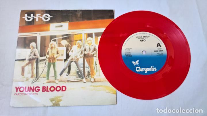 MUSICA SINGLE:UFO - YOUNG BLOOD / LIGHTS OUT . SINGLE ROJO 1980 (Música - Discos - Singles Vinilo - Heavy - Metal)