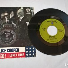 Discos de vinilo: MUSICA SINGLE: ALICE COOPER - ELECTED! / LUNEY TUNE . Lote 194093163