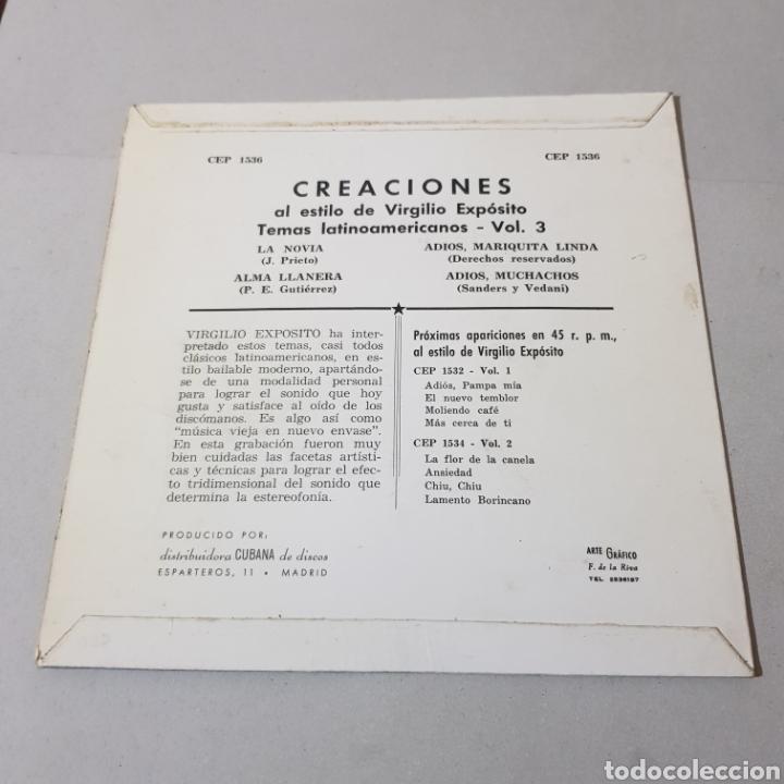 Discos de vinilo: CREACIONES AL ESTILO DE VIRGILIO EXPOSITO TEMAS LATINOAMERICANOS- LA NOVIA - ALMA LLANERA ... - Foto 2 - 194094000