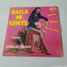 Discos de vinilo: ORQUESTA DE ESTRELLAS CUBANAS - BAILA MI GENTE - CANTAN LOS HERMANOS CALZADO. Lote 194094180