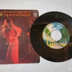 Discos de vinilo: MUSICA SINGLE: ALICE COOPER - BASTA YA SR. SIMPATICO / RAPED AND FREEZIN. WARNER BROS. Lote 194094642