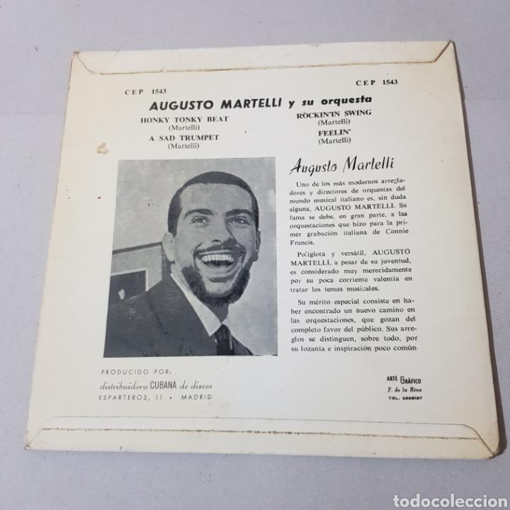 Discos de vinilo: AUGUSTO MARTINELLI - HONKY TONKY BEAT - A SAD TRUMOET - ROCKIN IN SWING - FEELIN 1964 - Foto 2 - 194094937