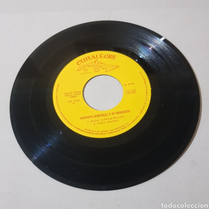 Discos de vinilo: AUGUSTO MARTINELLI - HONKY TONKY BEAT - A SAD TRUMOET - ROCKIN IN SWING - FEELIN 1964 - Foto 4 - 194094937