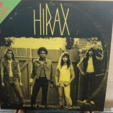 Discos de vinilo: HIRAX/L.A. KAOS?-BORN IN THE STREETS 1983-1984 - LP VINILO NUEVO - INCLUYE LIBRETO-TRASH METAL. Lote 203316633