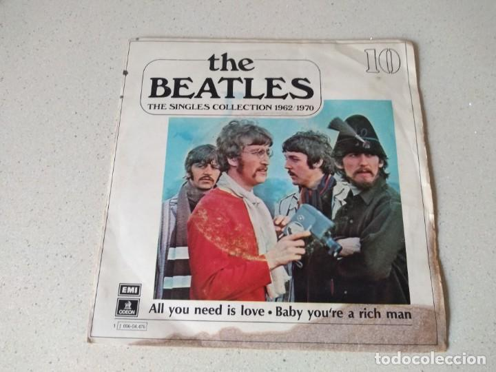 DISCO VINILO THE BEATLES . ALL YOU NEED IS LOVE AÑO 1967 (Música - Discos de Vinilo - Maxi Singles - Solistas Españoles de los 70 a la actualidad)