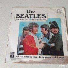 Discos de vinilo: DISCO VINILO THE BEATLES . ALL YOU NEED IS LOVE AÑO 1967. Lote 194106088