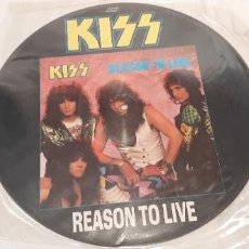 Discos de vinilo: KISS -REASON TO LIVE- (1987) MAXI-SINGLE PICTURE DISC. Lote 194117810