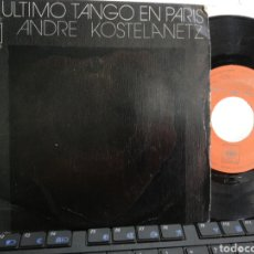 Discos de vinilo: ANDRE KOSTELANETZ SINGLE EL ÚLTIMO TANGO EN PARÍS ESPAÑA 1973 PORTADA CENSURADA. Lote 194119475