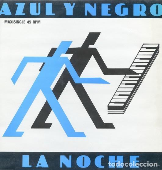 AZUL Y NEGRO – THE NIGHT (LA NOCHE) MAXI-SINGLE SPAIN 1982 (Música - Discos de Vinilo - Maxi Singles - Grupos Españoles de los 70 y 80)