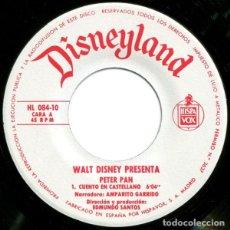 Discos de vinilo: WALT DISNEY PRESENTA EL CUENTO DE PETER PAN. Lote 194120841