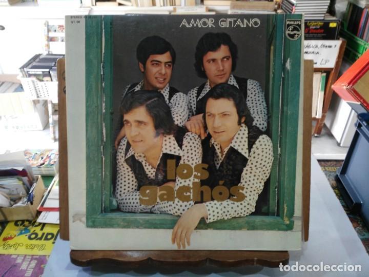 LOS GACHÓS - AMOR GITANO - LP. DEL SELLO PHILIPS 1976 (Música - Discos de Vinilo - EPs - Flamenco, Canción española y Cuplé)