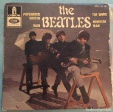 Discos de vinilo: THE BEATLES - PAPERBACK WRITER / RAIN / THE WORD / NOWHERE MAN - EMI ODEON - FRANCIA - 1966. Lote 194122838