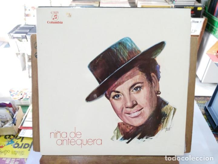 NIÑA DE ANTEQUERA - ¡AY, MI PERRO!, LIBRE CORAZÓN, CARIÑO BANDOLERO... - LP. DEL SELLO COLUMBIA 1969 (Música - Discos de Vinilo - EPs - Flamenco, Canción española y Cuplé)