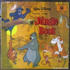 Discos de vinilo: BSO - WALT DISNEY, SONGS FROM THE JUNGLE BOOK AND OTHER JUNGLE FAVORITES - 1969 - LIBRO DE LA SELVA. Lote 194123428