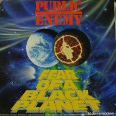 Discos de vinilo: PUBLIC ENEMY - FEAR OF A BLACK PLANET LP + INSERT SPAIN 1989. Lote 194123991