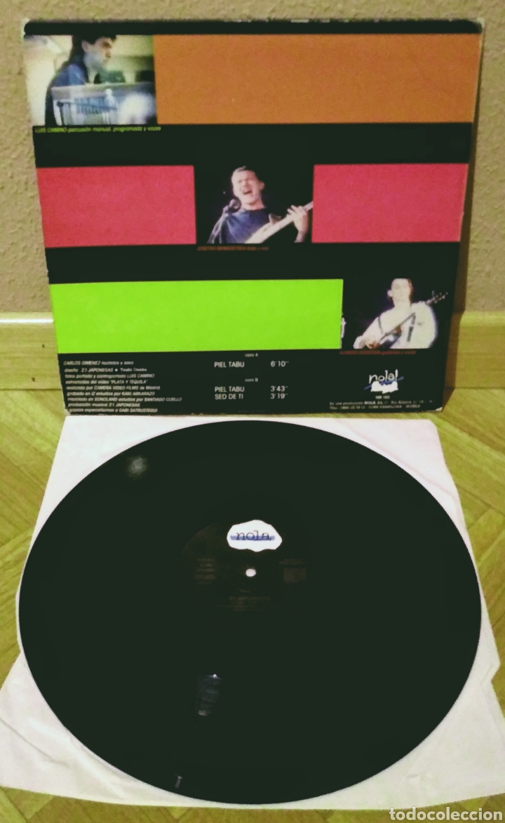 Discos de vinilo: 21 JAPONESAS - PIEL TABÚ MX Nola 1988 - Foto 2 - 194124095