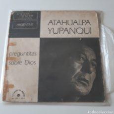 Discos de vinilo: LP ATAHUALPA YUPANQUI : PREGUNTITAS SOBRE DIOS. LE CHANT DU MONDE. G.U. LDX 7 4415.. Lote 194126633