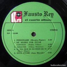 Discos de vinilo: FAUSTO REY - EL CUARTO ALBUM - 1973 - PROMOCIONAL - SALSA, MERENGUE, REPÚBLICA DOMINICANA. Lote 194127805