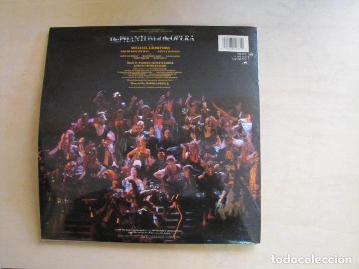 Discos de vinilo: The Phantom of the Opera. BSO. PolyGram, 831 273-1 AK. España, 1987. Funda VG++. Disco VG++ - Foto 3 - 194136008