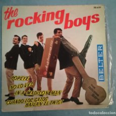 Discos de vinilo: THE ROCKING BOYS - POPEYE / NO LO VES / IN A MADISON MAN / CUANDO LOS GATOS BAILAN EL TWIST - 1963. Lote 194136446