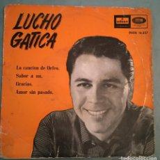Discos de vinilo: LUCHO GATICA - LA CANCION DE ORFEO / SABOR A MI / GRACIAS / AMOR SIN PASADO - EMI ODEON - 1960. Lote 194136660