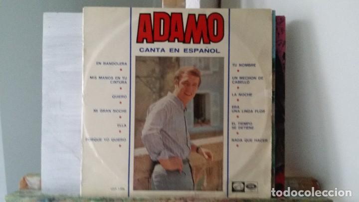 ** ADAMO - CANTA EN ESPAÑOL - LP 1966 - LEER DESCRIPCIÓN (Música - Discos - LP Vinilo - Cantautores Extranjeros)