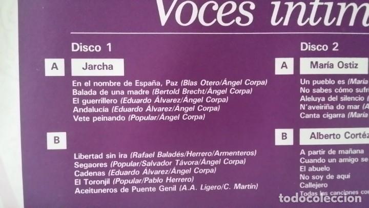 Discos de vinilo: ** ARCHIVO DE PLATA DEL POP ESPAÑOL (VOCES INTIMAS) - DOBLE LP 1989 - LEER DESCRIPCIÓN - Foto 3 - 194144478