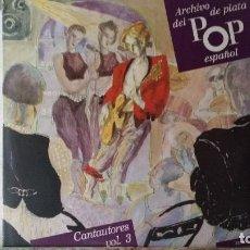 Discos de vinilo: *** ARCHIVO DE PLATA DEL POP ESPAÑOL - CANTAUTORES VOL.3 - DOBLE LP 1990 - LEER DESCRIPCIÓN. Lote 194145023