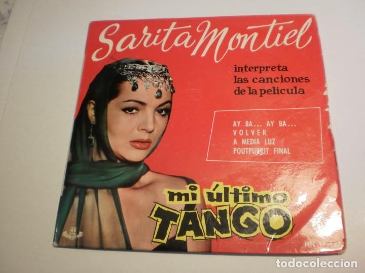 SINGLE SARA MONTIEL. MI ÚLTIMO TANGO. AY BA. VOLVER. A MEDIA LUZ. POUTPURRIT FINAL. HISPAVOX 1970 (Música - Discos - Singles Vinilo - Flamenco, Canción española y Cuplé)
