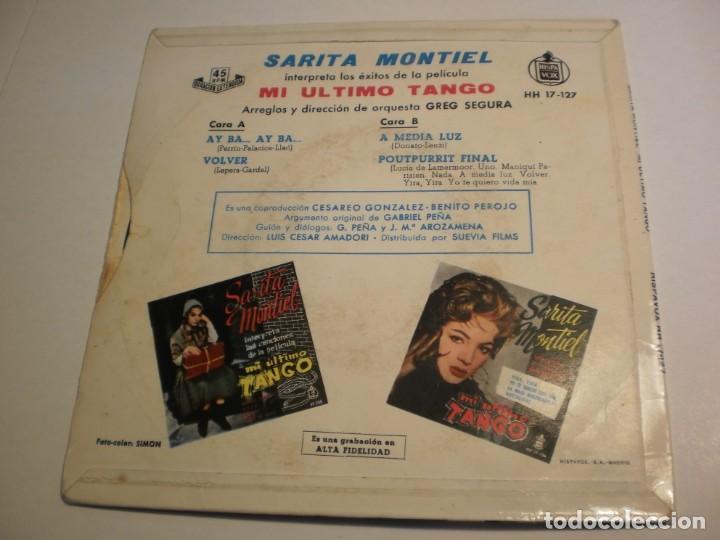 Discos de vinilo: single sara montiel. mi último tango. ay ba. volver. a media luz. poutpurrit final. hispavox 1970 - Foto 2 - 194147900