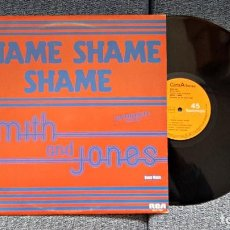 Discos de vinilo: SMITH AND JONES - SHAME, SHAME, SHAME/SHAME PARTE 2 - SUPERSINGLE. EDITADO POR RCA. AÑO 1.982. Lote 194157691