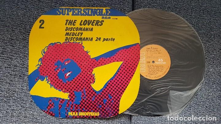 THE LOVERS - DISCOMANIA MEDLEY/DISCOMANIA 2ª PARTE. SUPERSINGLE EDITADO POR RCA. AÑO 1.977 (Música - Discos de Vinilo - Maxi Singles - Disco y Dance)