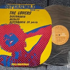 Discos de vinilo: THE LOVERS - DISCOMANIA MEDLEY/DISCOMANIA 2ª PARTE. SUPERSINGLE EDITADO POR RCA. AÑO 1.977. Lote 194158386