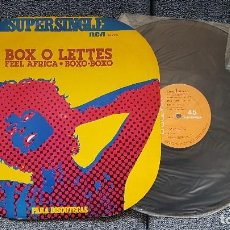 Discos de vinilo: BOX O LETTES - FEEL AFRICA / BOXO, BOXO. SUPERSINGLE. EDITADO POR RCA. AÑO 1.977. Lote 194158761