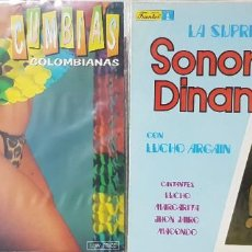 Discos de vinilo: LOTE DE 2 DISCOS: LA SUPREMA SONORA DINAMITA CON LUCHO ARGAIN Y CUMBIAS COLOMBIANAS - MIRAR FOTOS. Lote 194161705