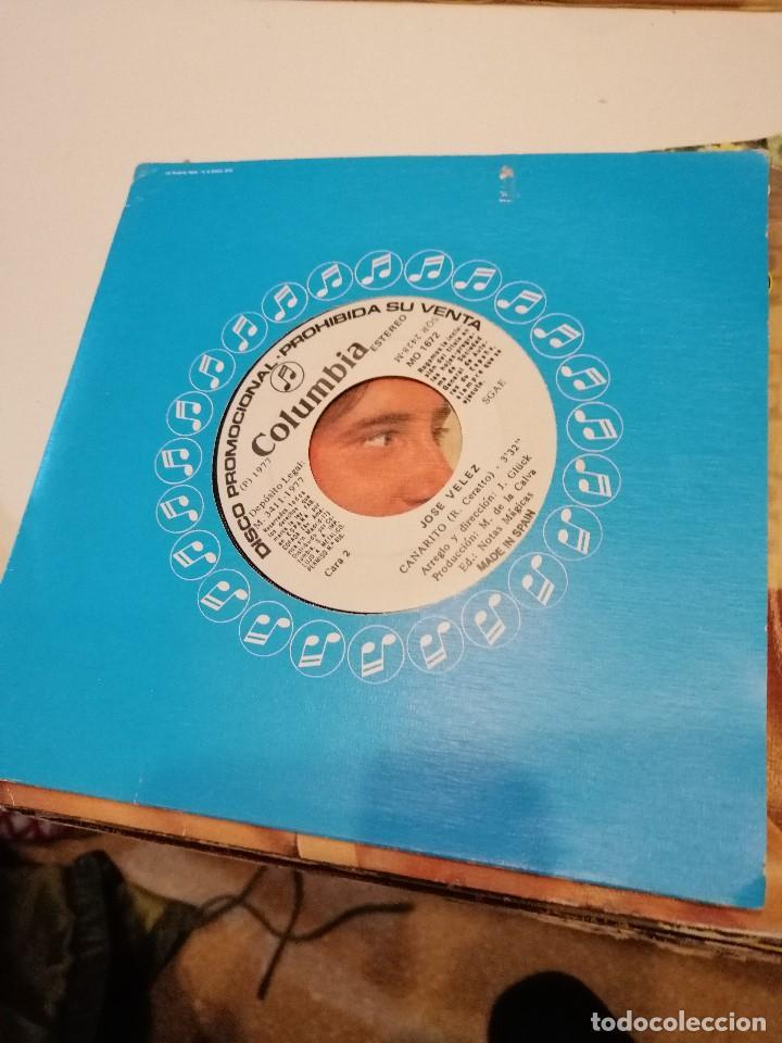 BAL-4 DISCO CHICO 7 PULGADAS JOSE VELEZ ROMANTICA PROMOCIONAL (Música - Discos - Singles Vinilo - Otros estilos)
