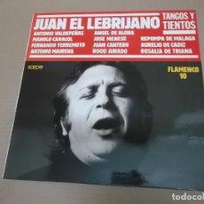 Discos de vinilo: FLAMENCO 10 (TANGOS Y TIENTOS) (LP) EL LEBRIJANO, M. CARACOL, FERNANDO TERREMOTO, RANCAPINO… AÑO – 1. Lote 194163917