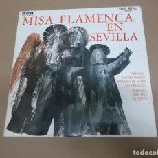 Discos de vinilo: MISA FLAMENCA EN SEVILLA (LP) ANTONIO MAIRENA, NARANJITO DE TRIANA, LUIS CABALLERO AÑO – 1968 – PORT. Lote 194164030