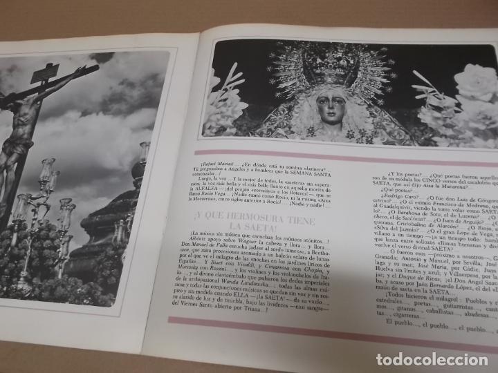 Discos de vinilo: CIELO DE SAETAS (LP) VER FOTO CONTENIDO COMPLETO AÑO – 1967 – PORTADA ABIERTA – DOCUMENTOS FOTOGRAFI - Foto 3 - 194164101