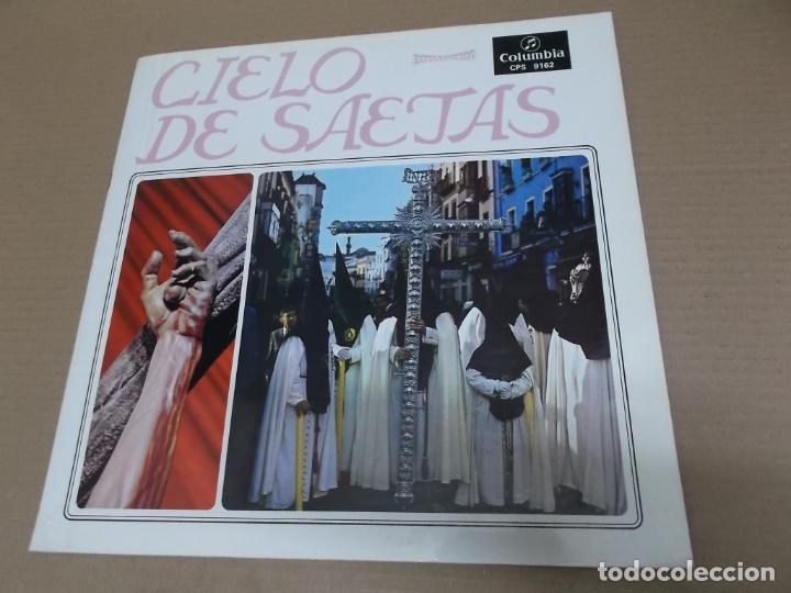 CIELO DE SAETAS (LP) VER FOTO CONTENIDO COMPLETO AÑO – 1967 – PORTADA ABIERTA – DOCUMENTOS FOTOGRAFI (Música - Discos - LP Vinilo - Flamenco, Canción española y Cuplé)