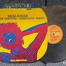 Discos de vinilo: SHALAMAR - UPTOWN FESTIVAL / BEAUTIFUL NIGHT. SUPERSINGLE DISCOTECAS. EDITADO POR RCA. AÑO 1.977. Lote 194164367