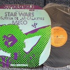 Discos de vinilo: MECO - STAR WARS LA GUERRA DE LAS GALAXIAS. SUPERSINGLE DISCOTECAS. EDITADO POR RCA. AÑO 1.977. Lote 194164721