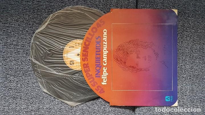 FELIPE CAMPUZANO - INQUIETUDES / LAS SALINAS. SUPERSINGLE. EDITADO POR AMBAR. AÑO 1.978 (Música - Discos de Vinilo - Maxi Singles - Solistas Españoles de los 70 a la actualidad)