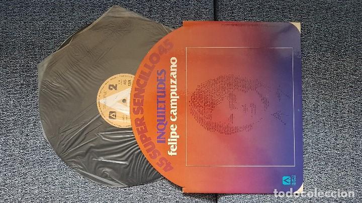 Discos de vinilo: Felipe Campuzano - Inquietudes / Las salinas. supersingle. editado por Ambar. año 1.978 - Foto 2 - 194164958