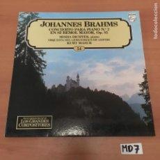 Discos de vinilo: JOHANNES BRAHMS. Lote 194171693